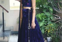 Shaam: Midnight Hues / The most elegant, sophisticated and gorgeous lehengas! Perfect for parties, receptions and cocktails! Become the belle of the ball in these lehengas by Masakali