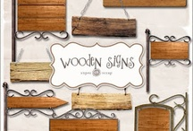 Wooden signs / by Marnie Schember