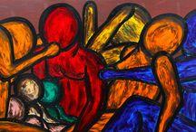 """Exhibition """"FRANCESCO RUSPOLI"""" / """"A figura do ser humano presente nas abordagens do artista Francesco Ruspoli tem formas imperfeitas. Ele constrói suas composições a partir das relações sociais e da sua necessidade de perceber as dimensões latentes sobre as quais constroem-se este universo. A representação social pode ser compreendida pelo conteúdo, ao mesmo tempo seu estudo remete a elementos imaginários."""""""