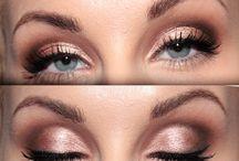 golden/peach eyemake-up