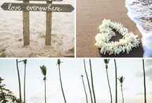 Beach wedding decor / Decor for DW on the beach.  Destination Wedding travel planners.   www.vacationswithflair.com