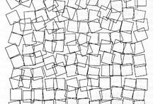 Cuadrados abstracto y figurativo