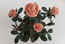 Fiori e piante all'uncinetto-Spiegazione-Tutorial / Una piccola raccolta delle mie creazioni all'uncinetto