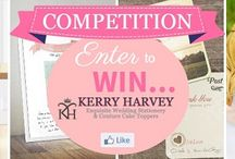 Wedding competitions / Take a look at all our fab online wedding related competitions :)