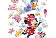Minnie egeres gyerekszoba / Minnie egér, Daisy kacsa falmatricák, gyerekszoba ötletek, Minnie egeres függönyök, tükör, bordűr, poszter és tapéta