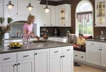 Homecrest Cabinetry / Fresh ideas for affordable, customizable cabinetry. http://www.homecrestcabinetry.com/ / by MasterBrand Cabinets