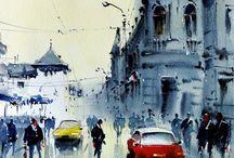 sotto la pioggia città e makinr
