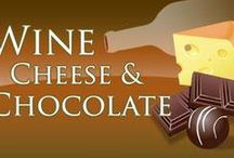 Wine, Cheese and Chocolate www.WineCheeseandChocolate.com / LearnAboutWine offers a class on Wine, Cheese and Chocolate.  You can view our datebook and see the various dates.