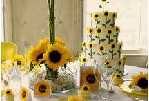 Sensational Sunflower Designs / Sunflowers fit to their name, follow the sun with their beautiful blossoms.  These bright blossoms always bring an sense of happiness!!!
