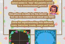 튀동숲 머리 패턴