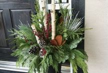 Christmas planter decore