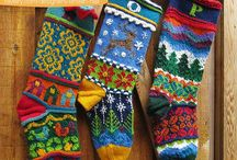 knitted christmas stockings free