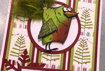 Card Ideas: Crazy Christmas / Christmas cards using Crazy Birds and Crazy Cats