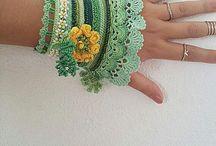 crochet arm jewelry