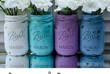 Crafting: Mason Jars / We love mason jars and are collecting a giant collection of projects using them!