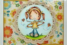 Card timbri colorati