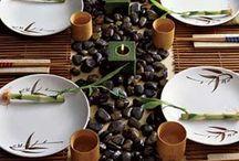 Sushi table decor