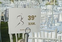 """Wedding at a private Estate in Marathon / Wedding planning for a theme """"Love is a marathon not a sprint"""""""