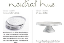 neutral hue blog posts / by Christina Loucks