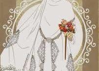 the bride in moslem wedding