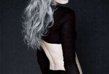 Grey/silver hairstyles
