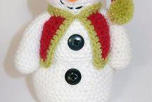 Horgolt - kötött Hóemberek
