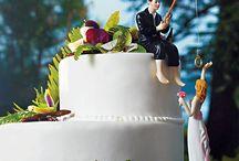Vicces esküvői tortadíszek / Funny wedding cake toppers