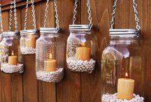 Frascos / frascos / botellas e iluminacion