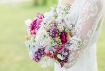 Brudebukett og div blomster