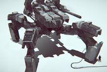 Concept Art  || Vehicles / Concept Art - Vehicles and Mechs