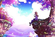 Anime Scenery / | Scenery | Backgrounds | Beautiful Colours |