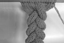 вязаная коса-шнур