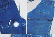 DIY old jeans
