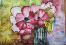MIS PINTURAS EN SEDA / mis primeras clases de pintura sobre seda  + + + + +                       https://www.facebook.com/Maryteart