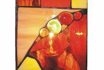 Lamparas en vitral y mosaico
