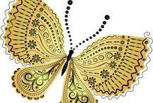 kelebekler kuşlar