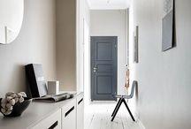 Hall / Oskar: enkelhet, sten  Linnea: funktionell, öppet