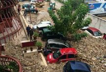 Disastrous Floods in Benevento, Italy