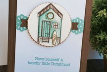 Beachy Little Christmas Stampin Up SU