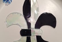 LSU Fleur-De-Lis Stained Glass  By Sarah / Stained Glass Ornaments / by Sarah Laakso