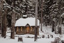 winter / pretty much a place for all my cabin porn.