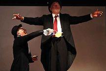 Pagliaccio sarà lei! / Si tratta di un divertente e coinvolgente spettacolo, che mette in risalto le doti attoriali del duo Abbate - De Lucia. In questa pièce i due attori si mettono alla prova utilizzando il genere clownesco, esaltandone i contrasti dei suoi intramontabili personaggi: il clown bianco e l'Augusto.