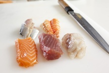 Nigiri Zushi / Nigiri Zushi with tuna, salmon, sea bass and mackerel