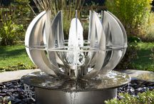 12 fins / Water feature, Stainless Steel, Bronze