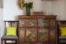 Painted refurbished furniture