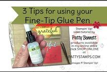 Fine tip glue pen