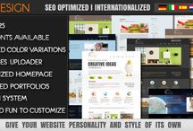 ThemeForest / Free royalty HTML templates as well as themes for popular CMS products like WordPress, Joomla and Drupal.