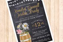 Vineyard wedding / Vineyard wedding wine barrel chalkboard wedding invitations