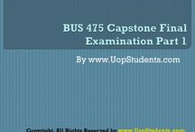 UOP STUDENTS BUS 475 CAPSTONE FINAL EXAM PART 1