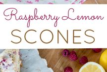 Raspberry lemon scones